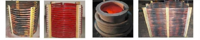 Melting induction coil